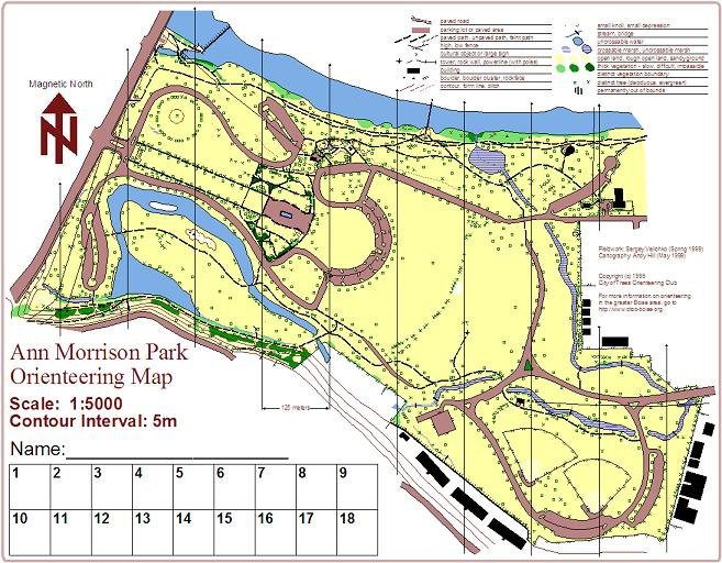 City Of Trees Orienteering Club (CTOC) - Maps And Directions